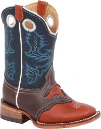 BA-3400 Bonanza Kids Rodeo Boots (Blk Str / Bonza - Colors: Brown, Western Express Size: 7.0)
