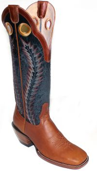 Mens Boots 16 inch Navy Honey Apache Western Cowboy Boots 4014 by Hondo Boots (Hondo Sizes: 7.0, Hondo Widths: D - Width)