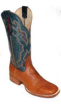 Mens Boots 13 inch Honey Navy Apache Cowboy Boots 4084 (Hondo Sizes: 7.0, Hondo Widths: D - Width)