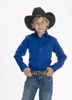 CHILD'S Western Shirt (Blk Str / Bonanza - Colors: Royal, Bonanza  Sizes: Small)