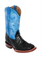KID'S PRINT CROCODILE BLACK/BLUE S-TOE (Ferrini Kid Boot Sizes: T-8)