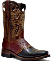 MEN'S 845-W PULL UP RODEO FRENCH TOE (Denver Colors: BLK/BUR/BWN, Denver Sizes: 6.0 EE)