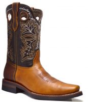 MENS 845-F  PULL UP RODEO FRENCH TOE (Denver Colors: TAN/BWN, Denver Sizes: 8.0 EE)