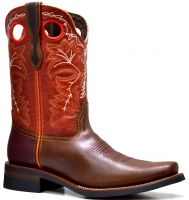 MENS 845-F  PULL UP RODEO FRENCH TOE (Denver Colors: BWN/BUR/RED, Denver Sizes: 8.0 EE)