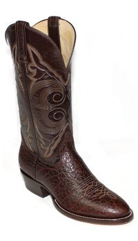 Hand Made Chocolate Bullhide Western Boots 8555 (Hondo Sizes: 8.0, Hondo Widths: D - Width, Hondo Colors: Chocolate)