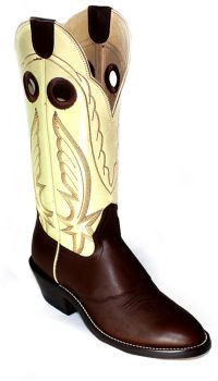 Mens Boots 14 inch Chocolate Bone Retan Cowboy Boots 9644 (Hondo Sizes: 7.0, Hondo Widths: D - Width)