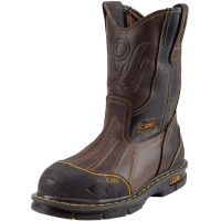 "CEBU Men's Bordo with Steel-Toe 12"" Work Boot (Cebu Color: BROWN, Cebu Size: 6.0)"