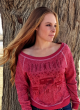 Adventure is Out There...  French Terry Long Sleeve Pullover T-1806 Red