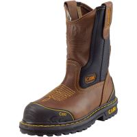 CEBU  Men's Farmer Steel-Toe Work Boot (Cebu Color: BRN/BLK, Cebu Size: 6.0)