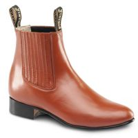 BA-100 Leather Botin Charro Boots by Bonanza Boots (BA-100 Leather: Please Select Size: 6, BA-100 Leather: Please Select Color: Chedron)