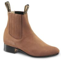BA-100 Nubuck Leather Botin Charro Boots by Bonanza Boots (BA-100 Nubuck Leather Please Select Color:: Camel, BA-100 Nubuck Leather Please Select Size:: 6)