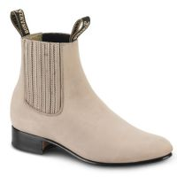 BA-100 Nubuck Leather Botin Charro Boots by Bonanza Boots (BA-100 Nubuck Leather Please Select Color:: Hazelnut, BA-100 Nubuck Leather Please Select Size:: 6)