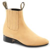 BA-100 Nubuck Leather Botin Charro Boots by Bonanza Boots (BA-100 Nubuck Leather Please Select Color:: Honey, BA-100 Nubuck Leather Please Select Size:: 6)