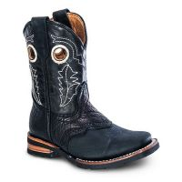 BA-3000 - Bonanza Kids Rodeo Boots (Blk Str / Bonanza - Colors: Black, Bonanza Boot Sizes: 7.0)
