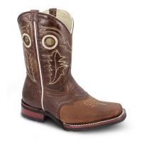 BA-3000 - Bonanza Kids Rodeo Boots (Blk Str / Bonza - Colors: Brown, Western Express Size: 7.0)