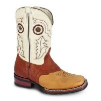 BA-3000 - Bonanza Kids Rodeo Boots (Blk Str / Bonza - Colors: Tan, Western Express Size: 7.0)