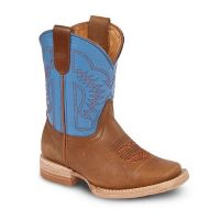 BA-3100 - Bonanza Kids Rodeo Boots (Blk Str / Bonza - Colors: Brown / Blue, Western Express Size: 7.0)