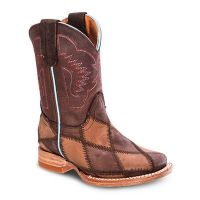 BA-3200 - Bonanza Kids Rodeo Boots (Blk Str / Bonza - Colors: Brown, Western Express Size: 7.0)