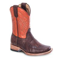 BA-3302 - Bonanza Kids Rodeo Boots (Blk Str / Bonza - Colors: Brown, Western Express Size: 7.0)