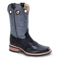BA-4000 - Bonanza Rodeo Boots by Bonanza Boots (Blk Str / Bonanza - Colors: Black, Bonanza  Sizes: 6.0)