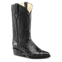 BA-51305 - Bonanza Exotic Western Boots (Blk Str / Bonanza - Colors: Black, Bonanza  Sizes: 6.0)