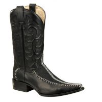 BA-52107 - Bonanza Exotic Western Boots (Blk Str / Bonanza - Colors: Black, Bonanza  Sizes: 6.0)