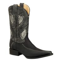 BA-52307 - Bonanza Exotic Western Boots (Blk Str / Bonanza - Colors: Black, Bonanza  Sizes: 6.0)