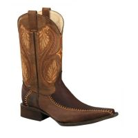 BA-52307 - Bonanza Exotic Western Boots (Blk Str / Bonanza - Colors: Chocolate, Bonanza  Sizes: 6.0)