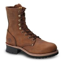 "BAT-901 Bonanza 9"" Logger Work Boots with Steel Toe by Bonanza Boots (Bonanza Color: Brown/Red, Bonanza  Sizes: 5.0)"