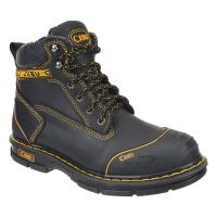 "CEBU Men's Borceshark 6"" Work Boot (non-steel toe) (Cebu Color: BLACK, Cebu Size: 6.0)"