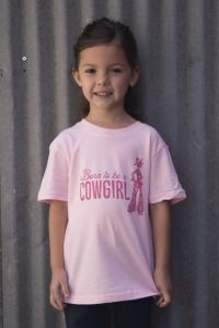 Born to be a Cowgirl Pink TY-201 YOUTH (Bonanza Boot Sizes: 2T)