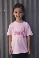 Born to be a Cowgirl Pink TY-201 YOUTH (Bonanza  Sizes: 2T)
