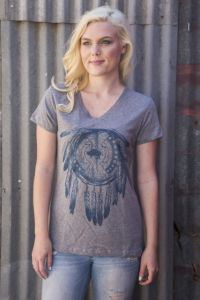 Buffalo Dreams V-Neck Tee   TL-1726 (Bonanza Boot Sizes: Small)