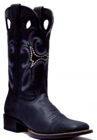 LADIES 835  RODEO CRAZY WIDE SQ TOE (Denver Colors: BLACK, Denver Sizes: 5 B)
