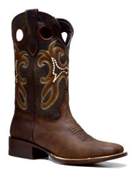 LADIES 835  RODEO CRAZY WIDE SQ TOE (Denver Colors: BROWN, Denver Sizes: 5 B)