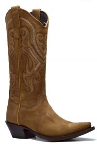 LADIES BASIC-WESTERN  NOBUCK SNIP-TOE (Denver Colors: SAND, Denver Sizes: 5 B)