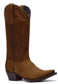 LADIES BASIC-WESTERN  NOBUCK SNIP-TOE (Denver Colors: BROWN, Denver Sizes: 5 B)