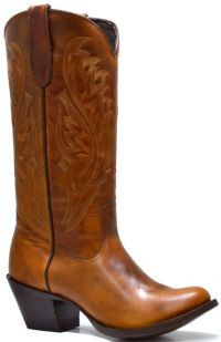 LADIES BASIC-WESTERN  PULL-UP U-TOE (Denver Colors: TAN, Denver Sizes: 5 B)