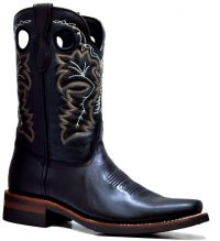 MENS 845-F  PULL UP RODEO FRENCH TOE (Denver Colors: BLACK, Denver Sizes: 8.0 EE)