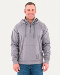 M WARMWEAR 1/4 ZIP HOODIE (Noble Colors: Heather Grey, Noble Sizes: Small)