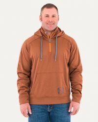 M WARMWEAR 1/4 ZIP HOODIE (Noble Colors: Rust Heather, Noble Sizes: Small)