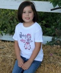 Rodeo  for Girls 1946 Tee  Youth  TY-203 (Bonanza Boot Sizes: X-Small)