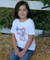 Rodeo  for Girls 1946 Tee  Youth  TY-203 (Bonanza  Sizes: X-Small)