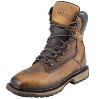 CEBU Men's TORO TRC1 Steel Toe Leather Work Boot (Cebu Color: TAN, Cebu Size: 6.0)