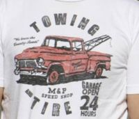 Towing and the Tire Youth Tee TY-209 (Bonanza  Sizes: X-Small)