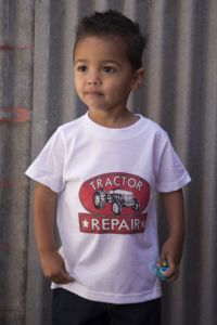 New Tractor Repair Toddler Tee TT-110 (Bonanza Boot Sizes: 2T)