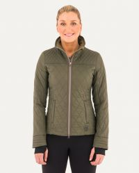 WARMUP QUILTED JACKET (Close Out*) (Noble Colors: Olive, Noble Sizes: X-Small)