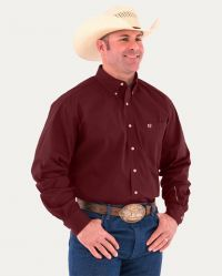 Generations Fit Long Sleeve Shirt Solid (Noble Colors: Burgundy Solid, Noble Sizes: Small)