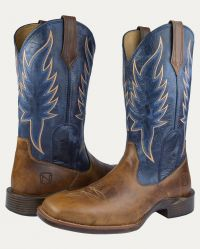 Men's All-Around Boots Square Toe Inferno (Noble Colors: Distressed Havana, Noble Sizes: 7 Reg)
