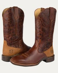 Men's All-Around Boots Square Toe Rare Breed (Noble Colors: Distressed Oak, Noble Sizes: 7 Reg)